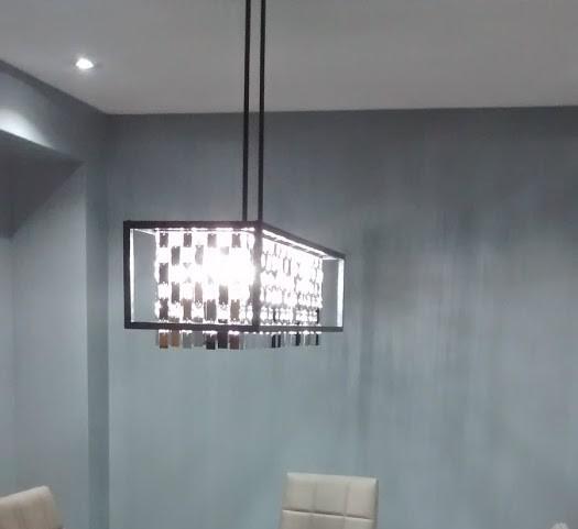 Amazing Chandelier and Potlights Installation